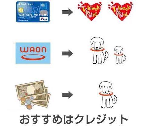イオングループの店舗や加盟店で利用するとポイントがつくイオンカード・電子マネーWAON・現金