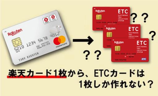 1枚の楽天カードから、2枚以上の楽天ETCカードを発行できる?