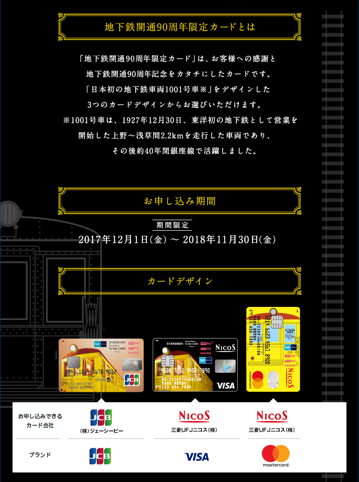 東京メトロ To me CARD prime カードデザイン