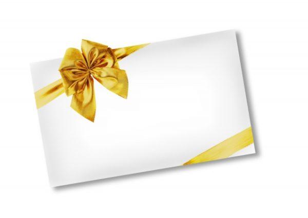 金のリボンの封筒