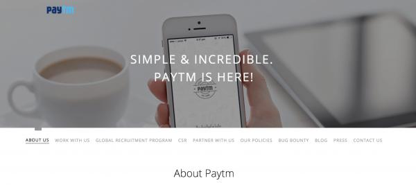 Paytm Inc.公式HP