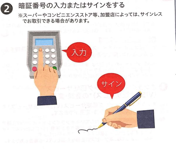 三菱東京UFJ-VISAデビット|ご利用ガイドより 暗証番号とサイン