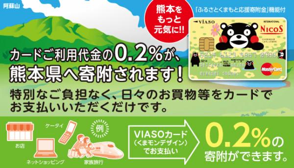 「VIASOカード」寄付の割合
