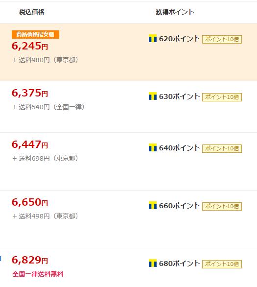 「Yahoo!ショッピング」価格比較