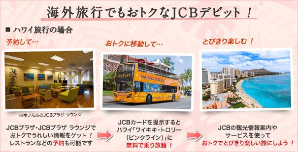 海外旅行でもおトクなJCBデビット!
