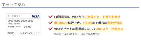 「カードレスVisa」を使えばカード番号を4つ発行・番号変更自由
