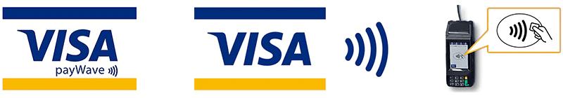 Visaのタッチ決済対応マーク Visa