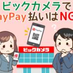 ビックカメラでのPayPay還元率は「現金以下」…ペイペイ以外のおすすめ支払い方法3選