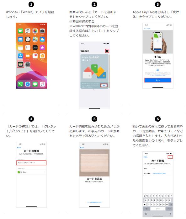 Apple Payの登録手順